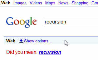 recursion: see recursion